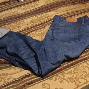 J crew distressed jeans can cuff or wear long